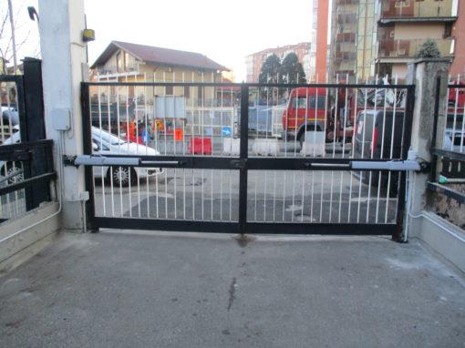 nuova automazione cancello battente con prodotto faac
