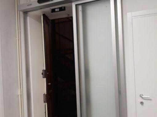 nuova porta automatica telescopica faac